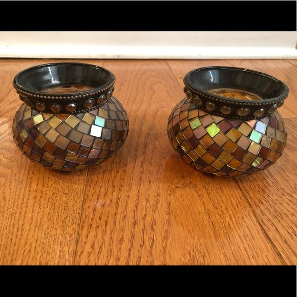 PartyLite Global Fusion Candle Holders (2)